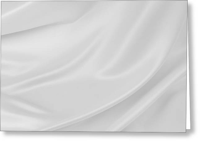Recently Sold -  - White Cloth Greeting Cards - Silk Greeting Card by Les Cunliffe