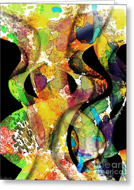 Focal Color Art Greeting Cards - Silk Scarves Greeting Card by Debbie Portwood