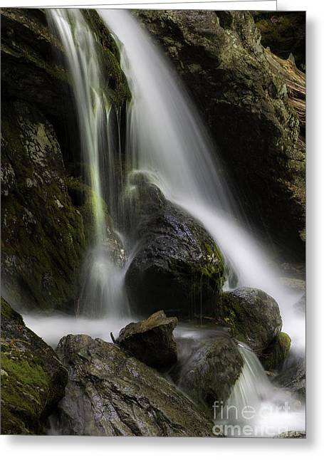 Nature Scene Greeting Cards - Silken Cascades Greeting Card by Thomas Schoeller