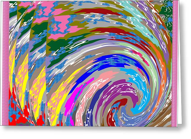 Colorful Fineart Silken Spiral Waves Pattern Decorative Art By Navinjoshi At Fineartamerica.com Greeting Card by Navin Joshi