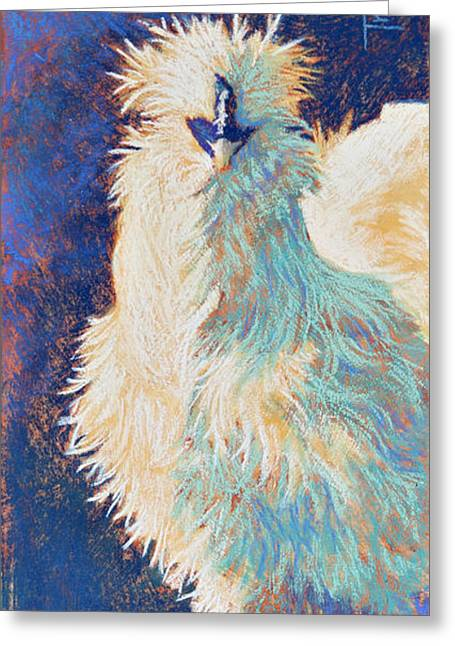 Exotic Pastels Greeting Cards - Silkie Rooster Greeting Card by Tracy L Teeter