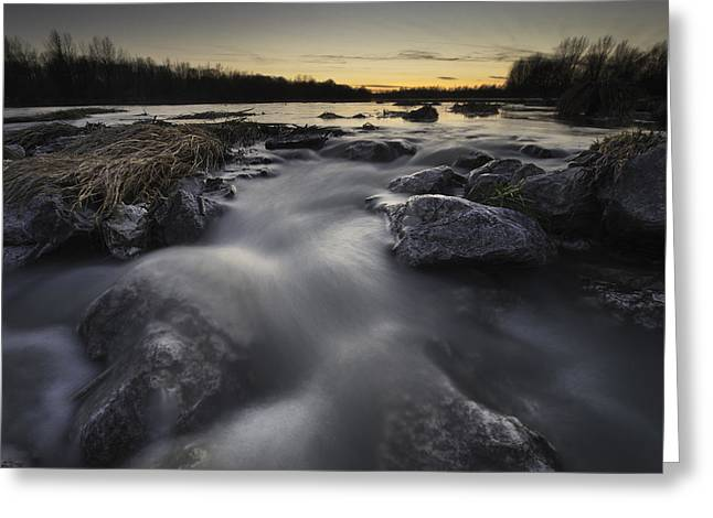 Rapids Photographs Greeting Cards - Silky river Greeting Card by Davorin Mance