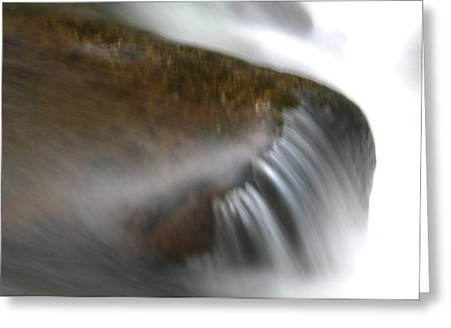 Water In Creek Greeting Cards - Silky Water Greeting Card by Jeff  Swan