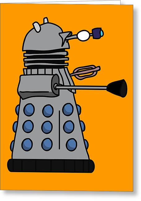 Dr. Who Greeting Cards - Silly Robot Greeting Card by Jera Sky