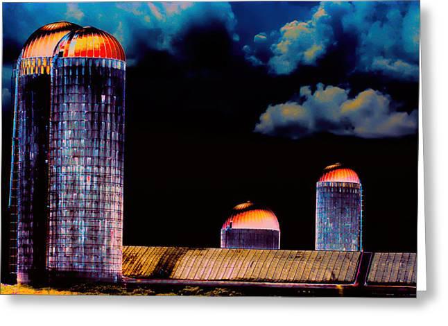Farming Greeting Cards - SILO 2 Art Greeting Card by Lesa Fine