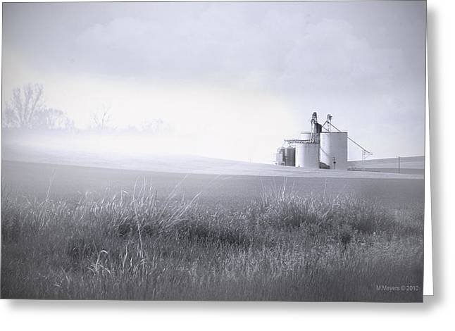 Silo Mist Greeting Card by Melisa Meyers