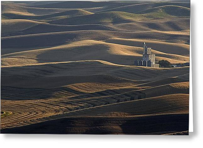 Usa Photographs Greeting Cards - Steptoe Silo Greeting Card by Latah Trail Foundation