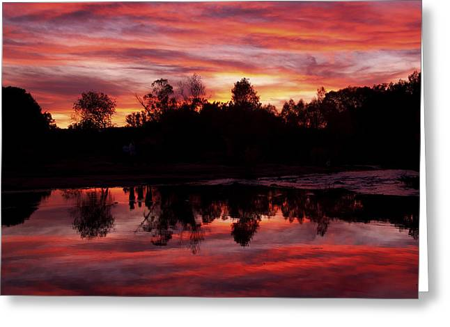 Red Rock Crossing Greeting Cards - Silohuettes Greeting Card by Tom Kelly
