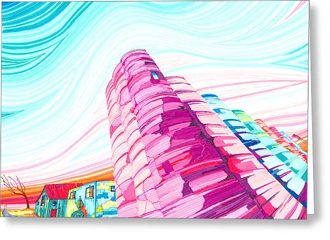 Sky High Greeting Cards - Silos II Greeting Card by Scott Kirby