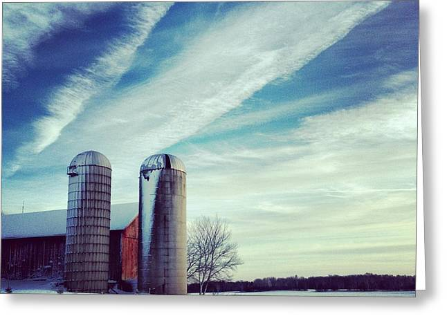 Silo Greeting Cards - Silos Greeting Card by Jeff Klingler