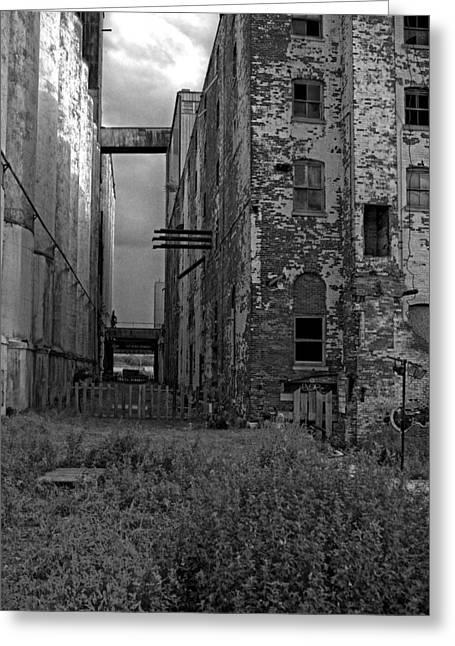 Old Feed Mills Photographs Greeting Cards - Silos Greeting Card by Jim Markiewicz