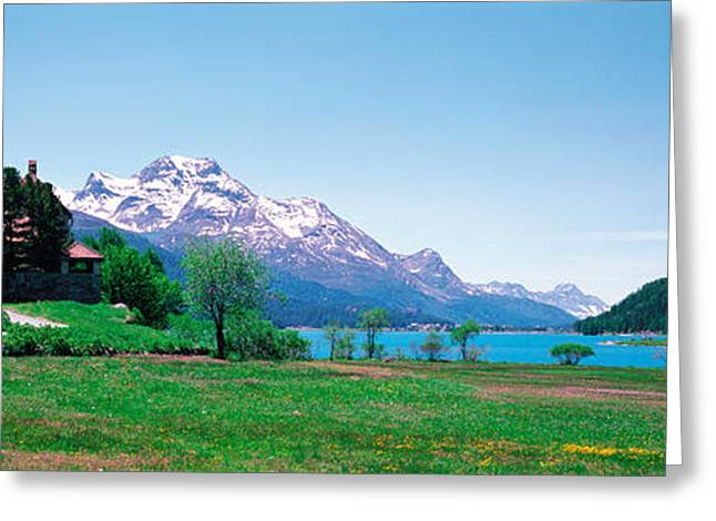 Mts Greeting Cards - Sils Maria Switzerland Greeting Card by Panoramic Images