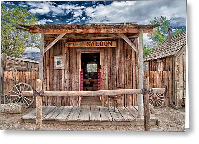 Saloons Greeting Cards - Silver Canyon Saloon Greeting Card by Cat Connor