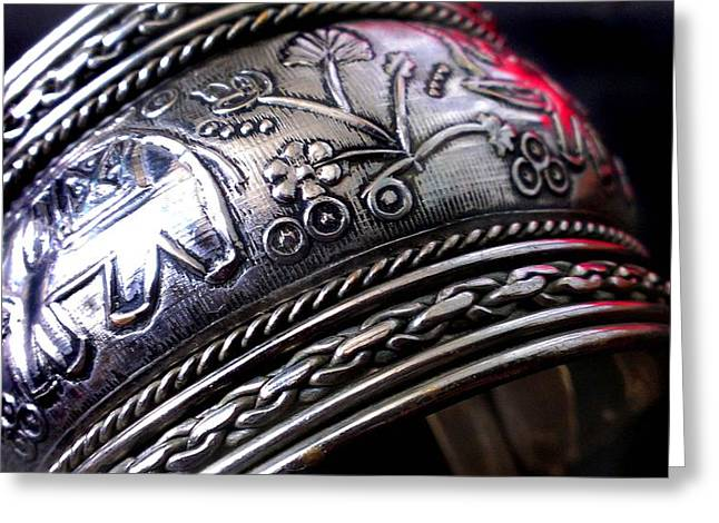 Woman Jewelry Greeting Cards - Silver Cuff Greeting Card by Catherine Ratliff