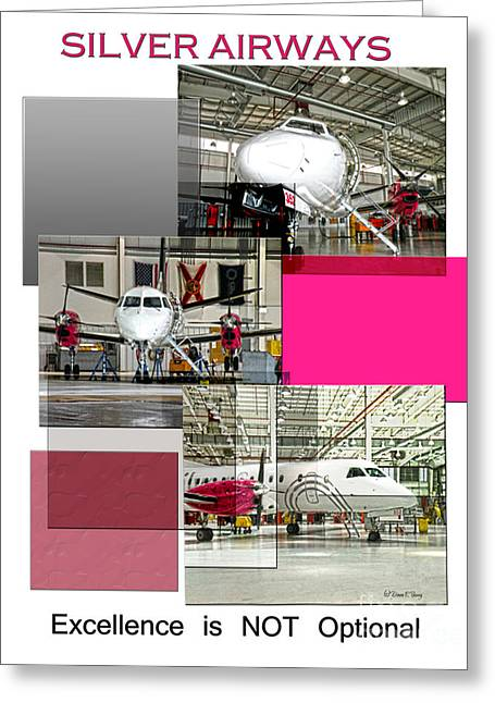 Repair Facility Greeting Cards - Silver Excellence 2 Greeting Card by Diane E Berry
