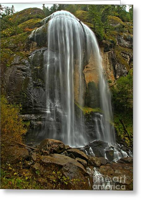 Silver Falls Greeting Card by Adam Jewell