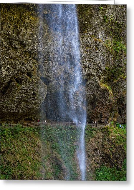 Silver Falls Greeting Cards - Silver falls Greeting Card by Kunal Mehra