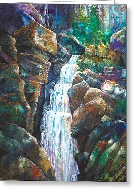Dingmans Falls Greeting Cards - Silver Falls Greeting Card by Patricia Allingham Carlson