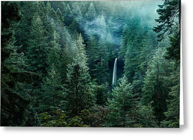 Silver Falls Greeting Cards - Silver Falls State Park Greeting Card by Brian Bonham