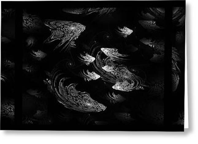 Aquarium Fish Greeting Cards - Silver fishes Greeting Card by Radoslav Nedelchev