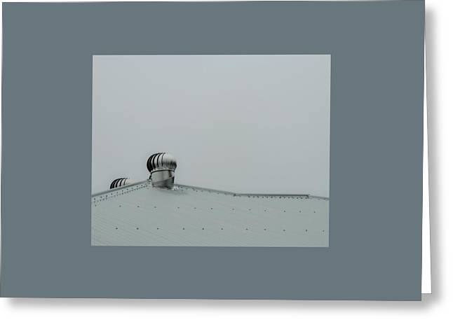 Tin Roof Greeting Cards - Silver Grey Morning Greeting Card by Denise Clark