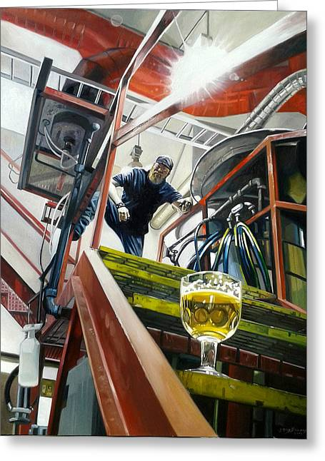 Brewer Paintings Greeting Cards - Silver Gulch Composition in Primary Greeting Card by Gregg Hinlicky