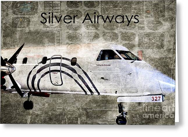 Airways Greeting Cards - Silver Instrument Panel Greeting Card by Diane E Berry