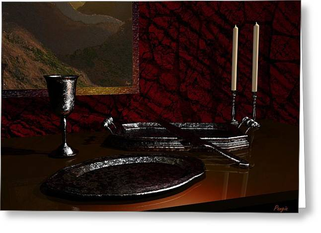 Interior Still Life Digital Greeting Cards - Silver Greeting Card by John Pangia