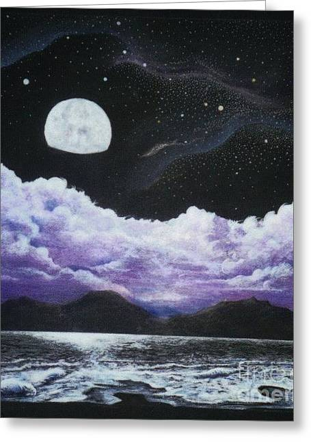 Surrealistic Images Greeting Cards - Silver Lake Greeting Card by David Neace