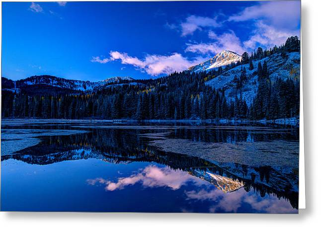 Silver Lake Greeting Card by Dustin  LeFevre
