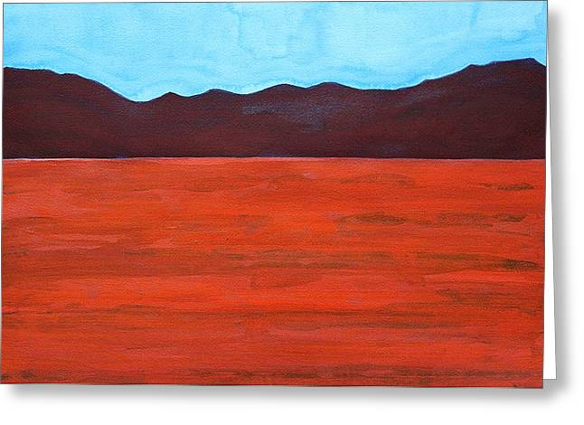 Dry Lake Paintings Greeting Cards - Silver Lake Evening original painting Greeting Card by Sol Luckman