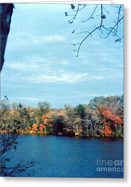 Grafton Ma Greeting Cards - Silver Lake Grafton MA Greeting Card by Debbie Wassmann