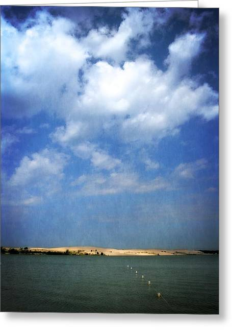 Beach Vista Greeting Cards - Silver Lake Sand Dunes 2.0 Greeting Card by Michelle Calkins
