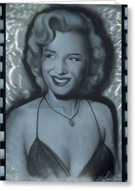 Silver Marylin 1 Greeting Card by Luis  Navarro