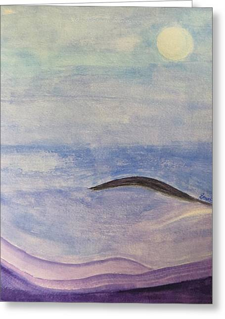 Dream Scape Greeting Cards - Silver Moon  Greeting Card by Sonali Gangane