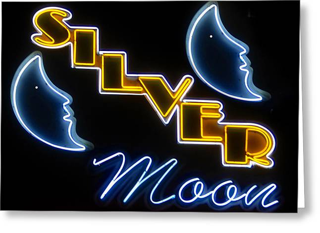 Silver Moon Drive In Greeting Cards - Silver Moons Greeting Card by David Lee Thompson