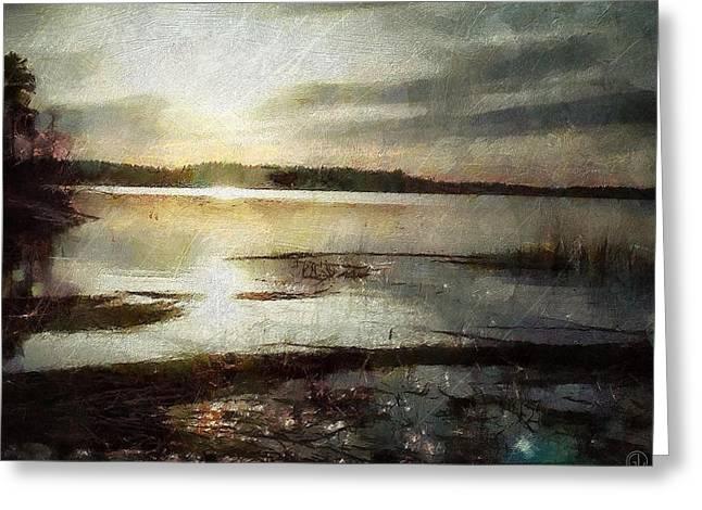 Reflection In Water Digital Greeting Cards - Silver morning Greeting Card by Gun Legler
