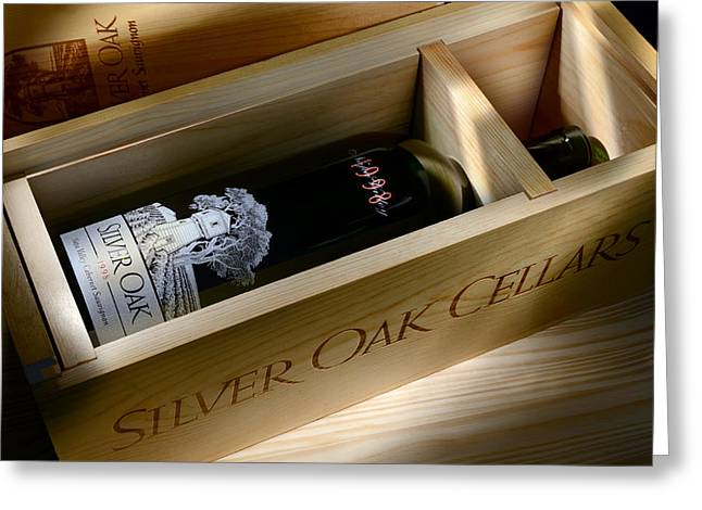 Wine Vineyard Greeting Cards - Silver Oak  Greeting Card by Jon Neidert