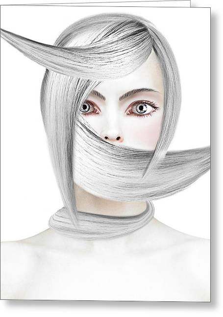 Gray Hair Greeting Cards - Silver One Greeting Card by Yosi Cupano