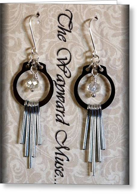 Jewelry Jewelry Greeting Cards - Silver Paddles Greeting Card by Jan Brieger-Scranton