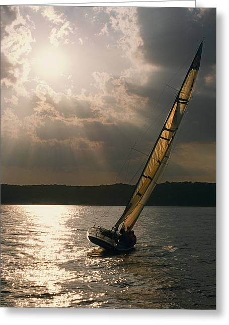 Buy Art Online Greeting Cards - Silver Passage - Lake Geneva Wisconsin Greeting Card by Bruce Thompson