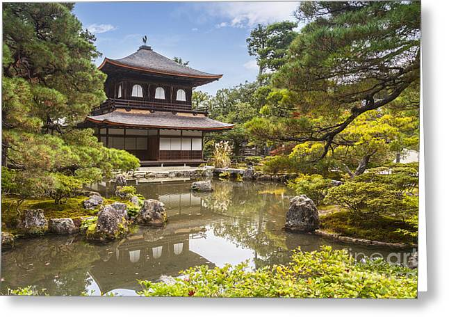 Visitors Greeting Cards - Silver Pavilion Kyoto Japan Greeting Card by Colin and Linda McKie