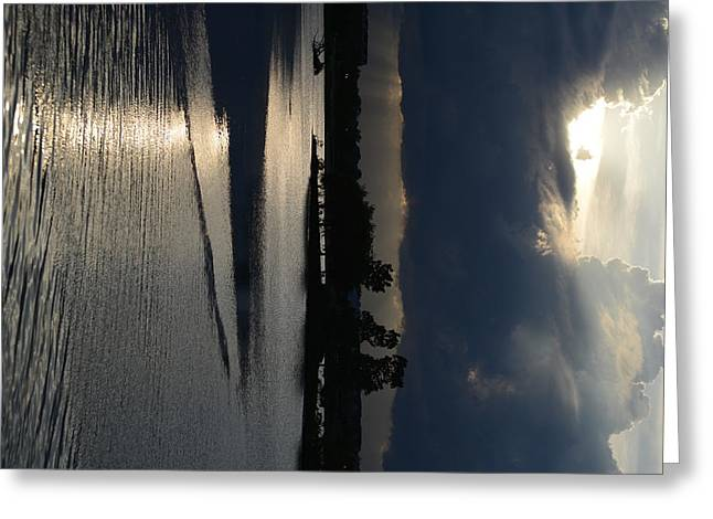 Silver Reflections Greeting Card by Adam Panek