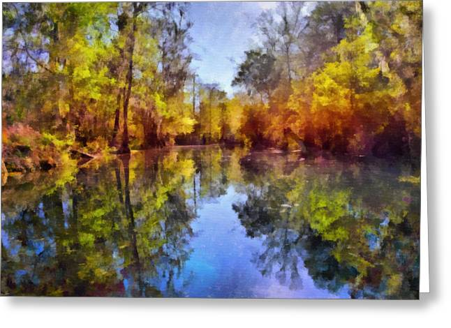 Interior Scene Greeting Cards - Silver River Colors Greeting Card by Christine Till
