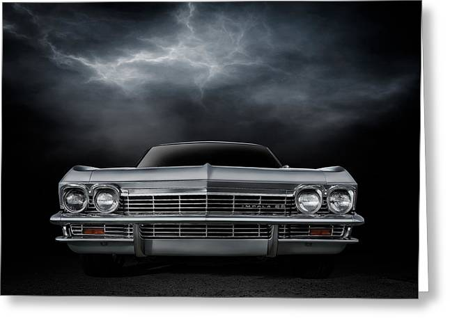 Car Show Greeting Cards - Silver Sixty Five Greeting Card by Douglas Pittman