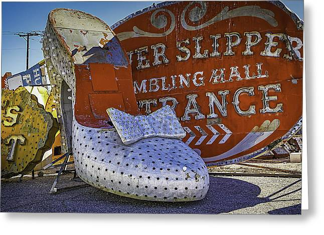 Discarded Greeting Cards - Silver Slipper Greeting Card by Garry Gay