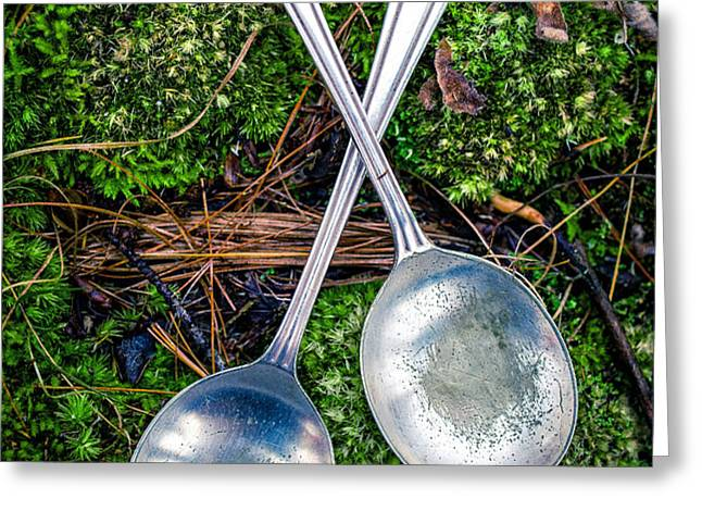 Silver Spoons  Greeting Card by Edward Fielding