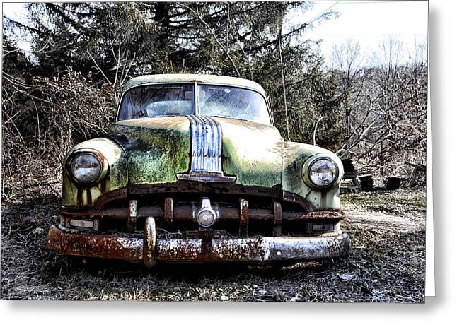 Rusted Cars Digital Greeting Cards - Silver Streak 8 Greeting Card by Bill Cannon