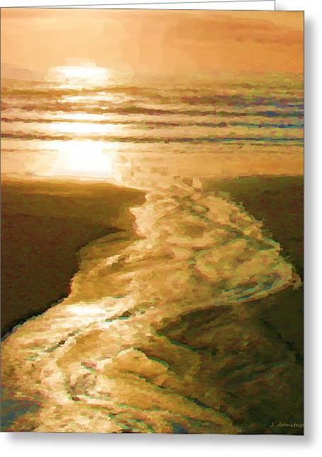 Silver Stream Greeting Card by Jenny Armitage