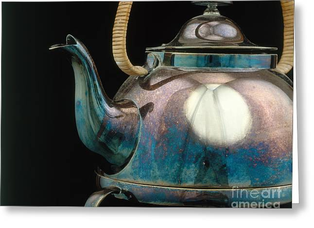 Silver Tarnish On Kettle Greeting Card by James L. Amos
